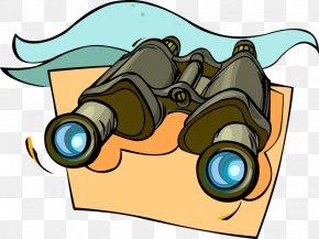 Binoqular Illustration - Clip Art Vector Graphics Illustration Image Binoculars PNG