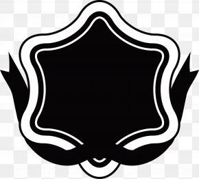 Black Star Logo - Ribbon Label Logo Clip Art PNG