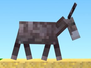 Donkey - The Blockheads Donkey Horse Mane Pack Animal PNG