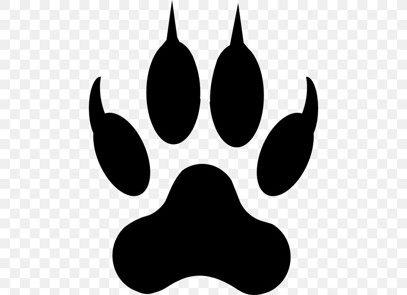 Dog Paw Cat Drawing Clip Art, PNG, 462x594px, Dog, Black, Black And White, Cat, Claw Download Free