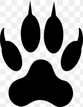 Paw Silhouette - Dog Paw Cat Drawing Clip Art PNG