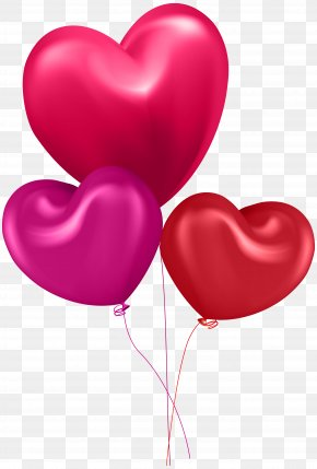 Valentine's Day - Valentine's Day Balloon Heart Greeting & Note Cards Clip Art PNG