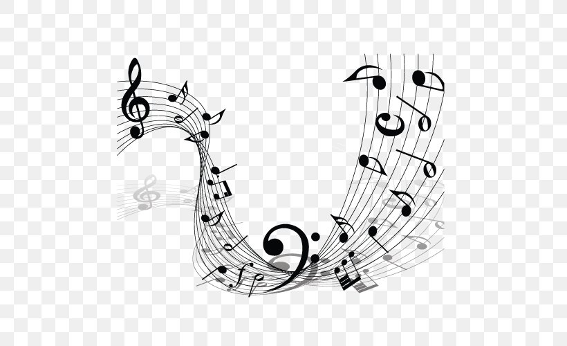 Musical Note Staff Clef, PNG, 500x500px, Watercolor, Cartoon, Flower, Frame, Heart Download Free