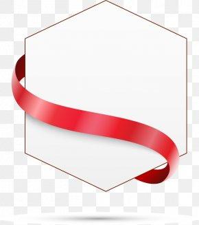 Ribbon Text Box Hexagon - Text Box Hexagon PNG