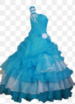 Gown - Dress Ball Gown Blue Prom PNG