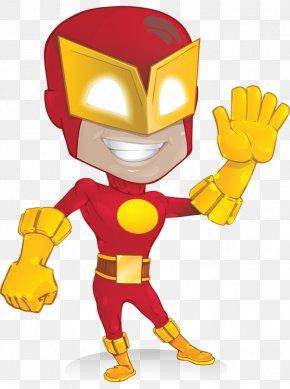Flash Superhero Cliparts - Flash Superhero Cartoon Character PNG