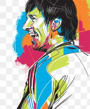 Drawing Messi - FC Barcelona PNG