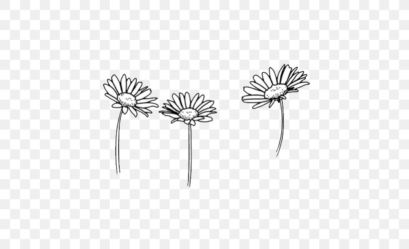 Drawing Flower Black And White Sketch Png 500x500px Art Body Jewelry Common