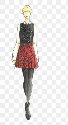 Simple Design Women's Fashion Illustration - Fashion Model Illustration PNG