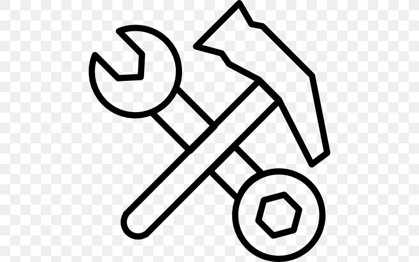 Hand Tool Spanners Hammer, PNG, 512x512px, Hand Tool, Area, Black, Black And White, Finger Download Free