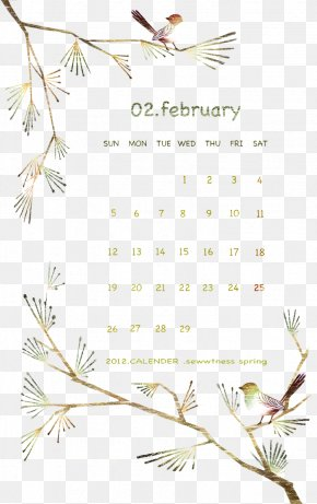 February Calendar - Illustration PNG