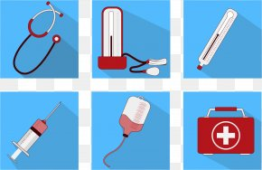 Vector Thermometer Emergency Medical Kits - Icon PNG