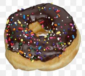 Donut With Chocolate Sauce - National Doughnut Day Icing Iced Coffee Krispy Kreme PNG