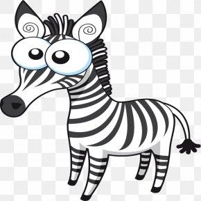 Cartoon Zebra Vector - Quagga Lion Zebra Clip Art PNG