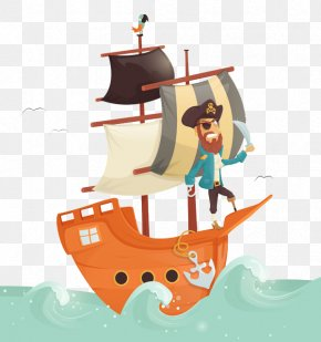 Games With Wind Pirate Ship - Visual Arts Drawing Illustrator Illustration PNG