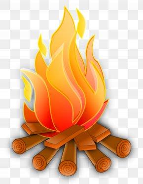 Campfire Vector - Fire Flame Clip Art PNG