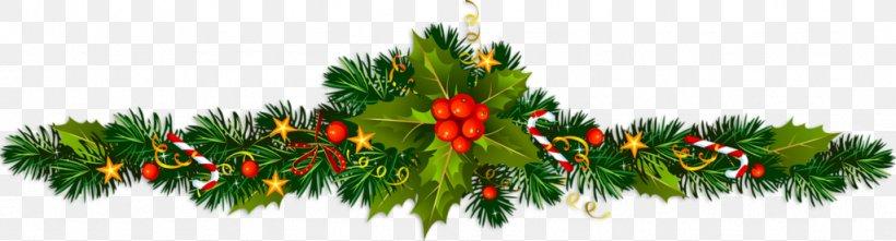 Christmas Tree Santa Claus Christmas Day New Year Christmas Ornament, PNG, 1024x277px, Christmas Tree, Branch, Christmas, Christmas Card, Christmas Day Download Free