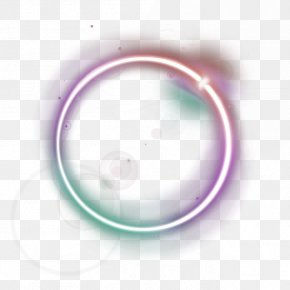 Purple Fresh Circle Light Effect Element - Circle PNG