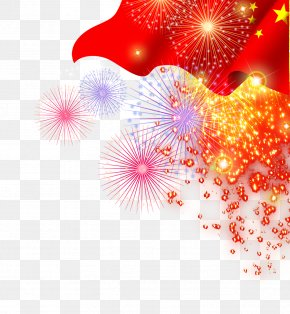 Flag - Fireworks Traditional Chinese Holidays PNG