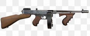 Machine Gun - Thompson Submachine Gun Firearm .45 ACP PNG