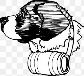 Peeking Monster - Canidae St. Bernard Drawing Line Art Illustration PNG