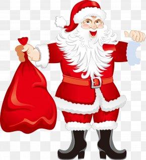 Cartoon Santa Claus Packs Pattern - Santa Claus Christmas Download Clip Art PNG