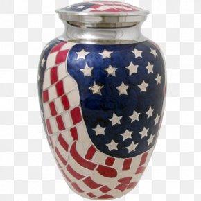American Flag - Bestattungsurne Military Vase Cremation PNG