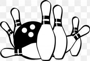 Bowling - Bowling Pin Bowling Ball Clip Art PNG