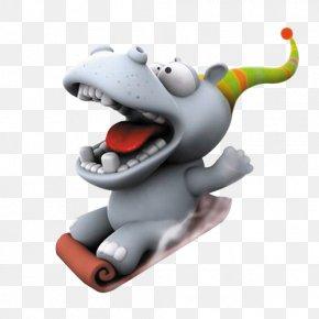 Creative Cute Cartoon Hippo - Cartoon Humour 3D Computer Graphics Wallpaper PNG