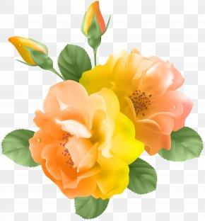 Yellow Orange Rose Transparent Clip Art - Purple Rose Tom Baxter Clip Art PNG
