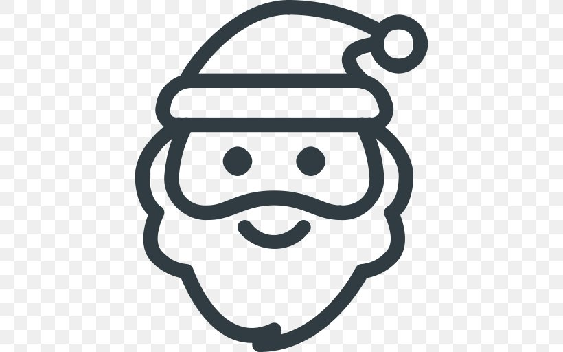 Santa Claus Christmas Day Vector Graphics Image, PNG, 512x512px, Santa Claus, Black And White, Christmas Day, Christmas Decoration, Facial Expression Download Free
