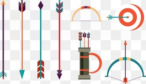 Vector Bow And Arrow - Bow And Arrow Archery PNG