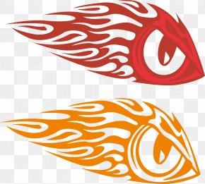 Vector Flame Hawkeye - Decal Bumper Sticker Eye PNG
