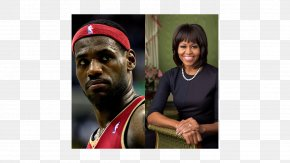 Lebron James - Barack Obama First Lady Of The United States Actor GLAAD Media Award Akron PNG