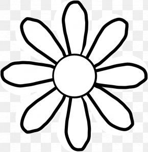 Black Sunflower Cliparts - Common Daisy Black And White Drawing Clip Art PNG