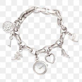 Anne Klein Pendant Bracelet Strap Watch Quartz Watch - Bracelet Watch Strap Necklace Pendant PNG