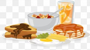 Food Breakfast Bread Vector Flattened Rice - Breakfast Brunch Food Bread Egg PNG