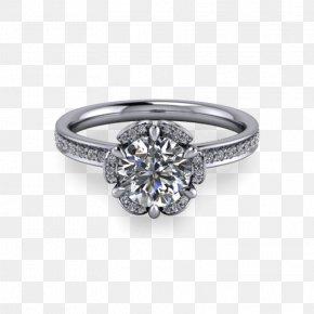 Flower Ring - Engagement Ring Jewellery Gemstone Diamond PNG