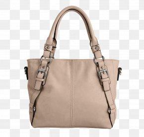 Dinslaken - Tote Bag Leather White Handbag Beige PNG