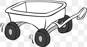 Wagon Cliparts Free - Cart Wagon Black And White Clip Art PNG