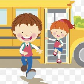 Cartoon Illustration From School Goodbye - Cartoon Stock Illustration Illustration PNG