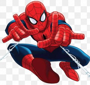 Spiderman Face Clipart - Ultimate Spider-Man Clip Art PNG