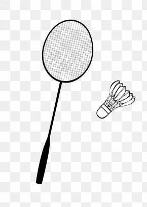 Badminton Racket And Shuttlecock - Badminton Racket Net U6253u7403 PNG