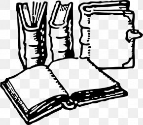 Picture Of A Book Clipart - Black And White Coloring Book Clip Art PNG