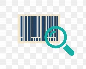Bar Code And Magnifying Glass - Barcode Reader Information PNG