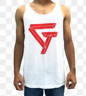 T-shirt - T-shirt Logo Product Sleeveless Shirt PNG