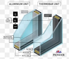 Window - Window Glass Insulated Glazing Aluminium PNG