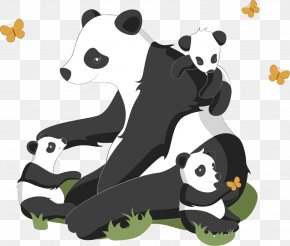 Vector Hand-painted Panda - Giant Panda Bear Red Panda Puppy Euclidean Vector PNG