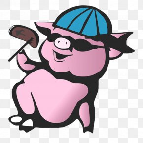 Pig - Pig Wall Decal Sticker Polyvinyl Chloride PNG