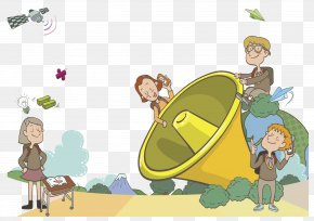 Hand Painted Child - Cartoon Field Trip Drawing Illustration PNG